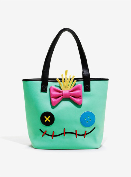 Loungefly Disney Stitch And Scrump Face 2 Sided Big Face Tote Bag