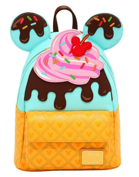 Real Life picture of mini backpack. Ears are included in this combo listing.