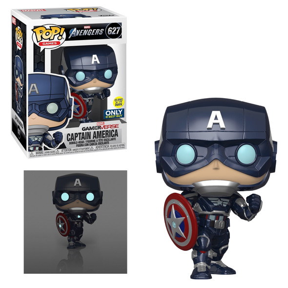Pop! Marvel Captain America #627 Glow in The Dark Exclusive