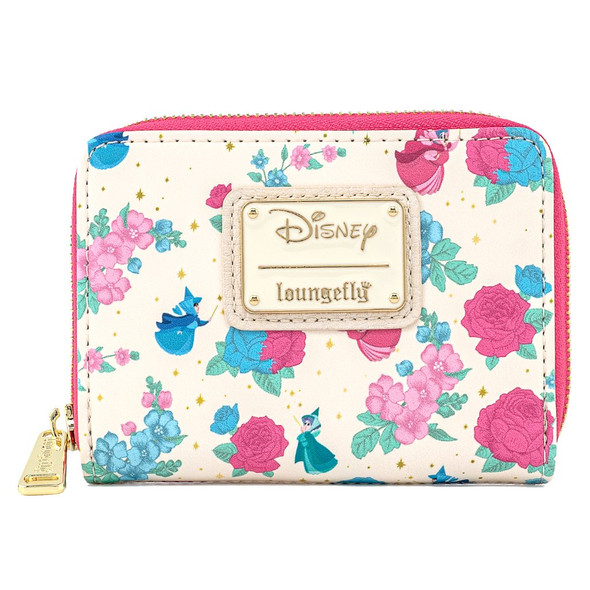 Loungefly Sleeping Beauty Floral Fairy Godmother Ziparound Wallet