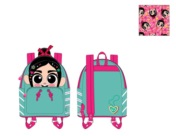 Loungefly Wreck-It Ralph Vanellope Cosplay Mini Backpack
