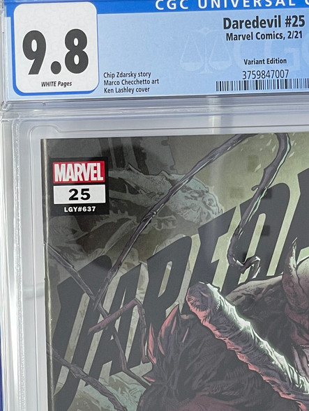 CGC 9.8 Daredevil #25 Lashley Knullified Variant