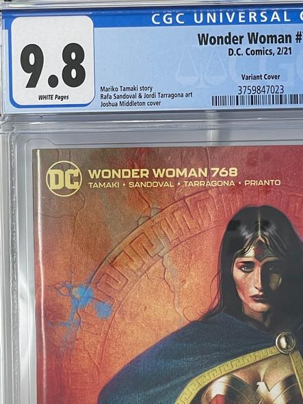 CGC 9.8 Wonder Woman #768 Middleton Variant