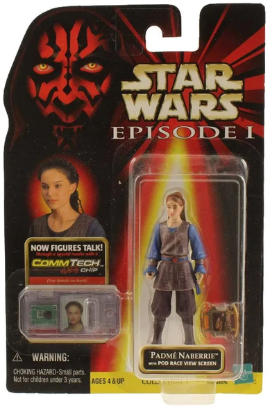 Hasbro Star Wars Episode I Padme Naberrie Action Figure w/ CommTech Chip