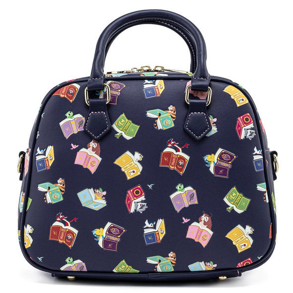 Loungefly Disney Princess Books All Over Print Crossbody