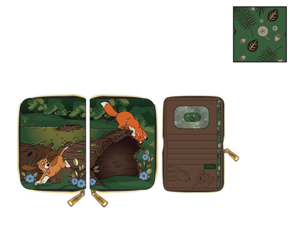 Loungefly Disney Fox and Hound Copper Todd Zip Wallet
