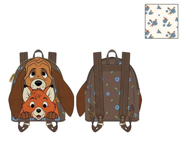 Loungefly Disney Fox and Hound Copper Todd Mini