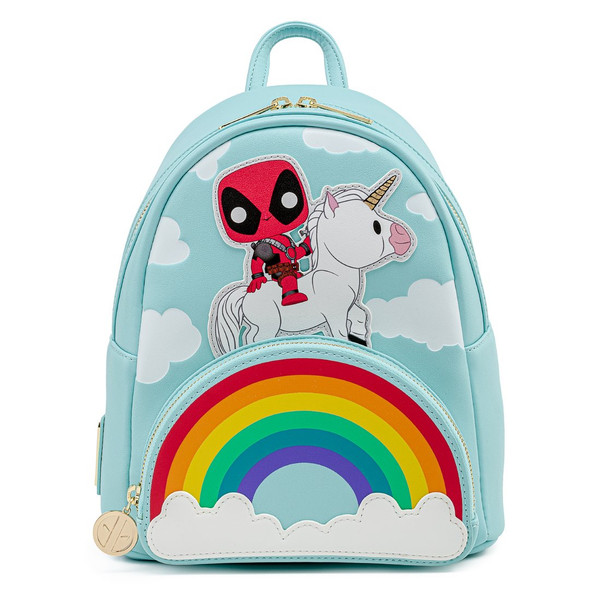 Pop by Loungefly Marvel Deadpool 30th Anniversary Unicorn Rainbow Mini