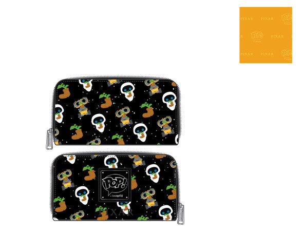 Pop by Loungefly Pixar Wall-E Eve Earth Day AOP Ziparound Wallet