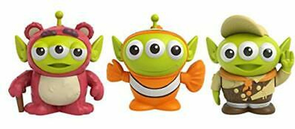 Pixar Alien Remix Lotso Nemo Russell 3-Pack Character Figures in a Pizza Box Package