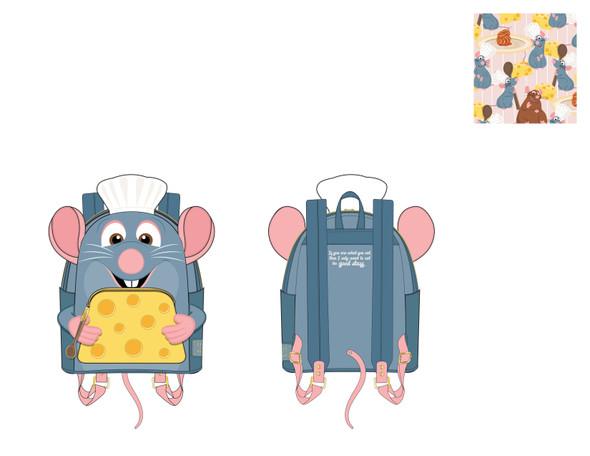 Loungefly Disney Pixar Ratatouille Chef Cosplay Mini Backpack