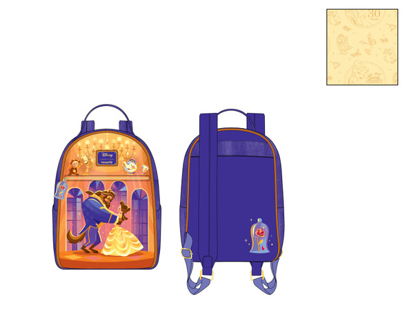 Loungefly Disney Beauty & Beast Ballroom Scene Mini Backpack