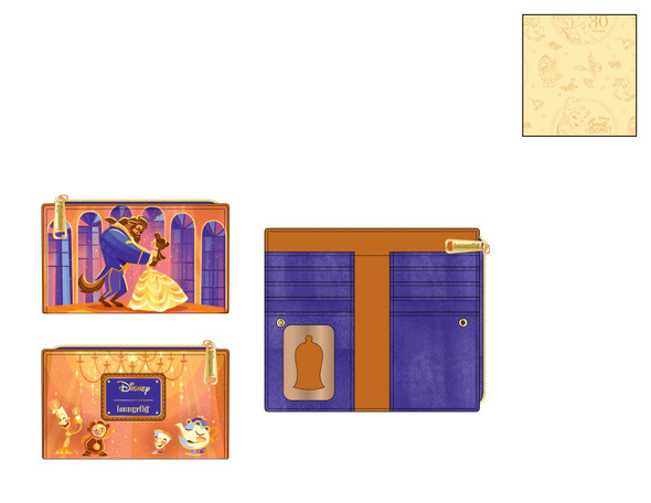 Loungefly Disney Beauty & Beast Ballroom Scene Wallet