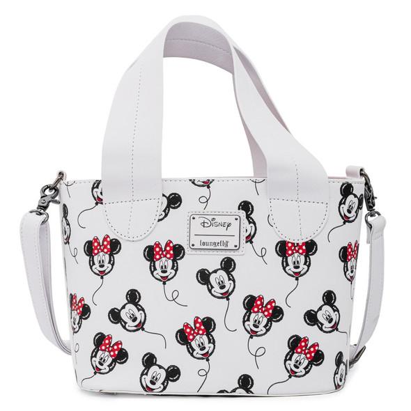 Loungefly Disney Mickey Minnie Mouse Balloon AOP Handbag