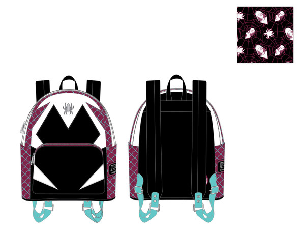 Loungefly Marvel Spider Gwen Cosplay Mini Backpack