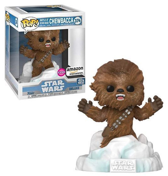 Pop! Deluxe Star Wars: Battle at Echo Base Series - Flocked Chewbacca Amazon