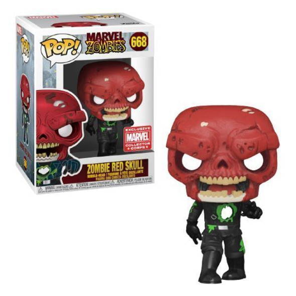 POP Marvel Zombie Red Skull #668