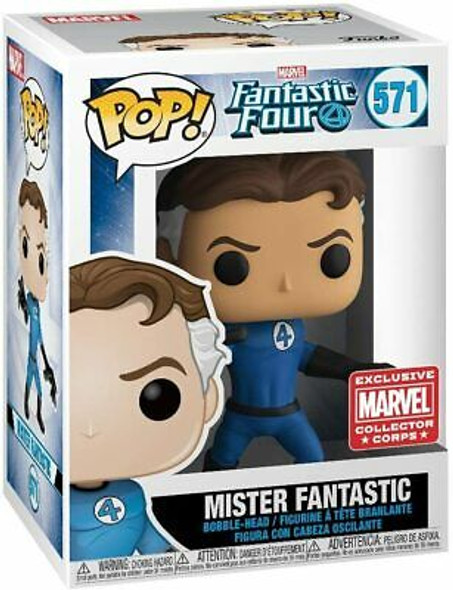 POP! Marvel Collector Corps Exclusive Fantastic Four 571 Mister Fantastic