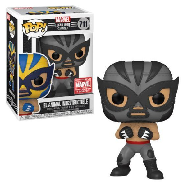 Pop! Marvel Collector Corps Exclusive Lucha Libre #711 B & W El Animal Indestructible