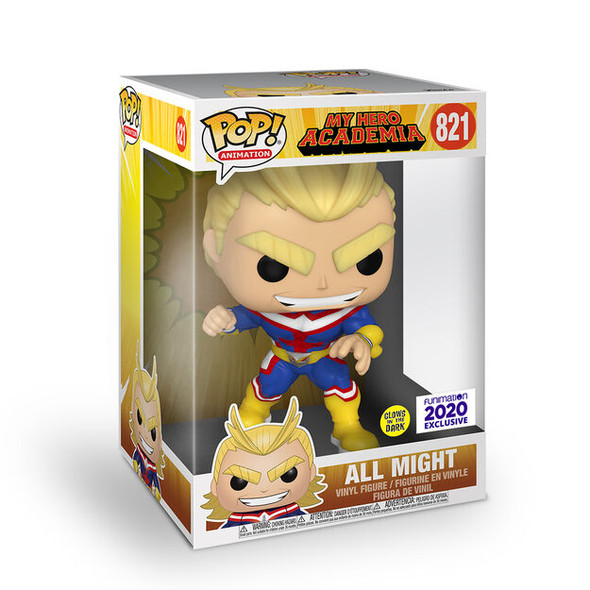 POP Animation My Hero Academia All Might 10 Inch (Glow-in-the-Dark) Funimation