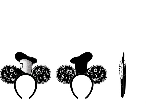 Loungefly Disney Steamboat Willie Applique Hat Rope Piping Headband