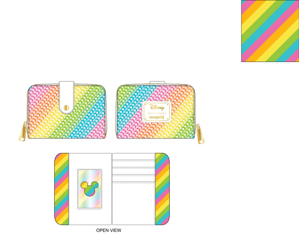 Loungefly Disney Sequin Rainbow Ziparound Wallet