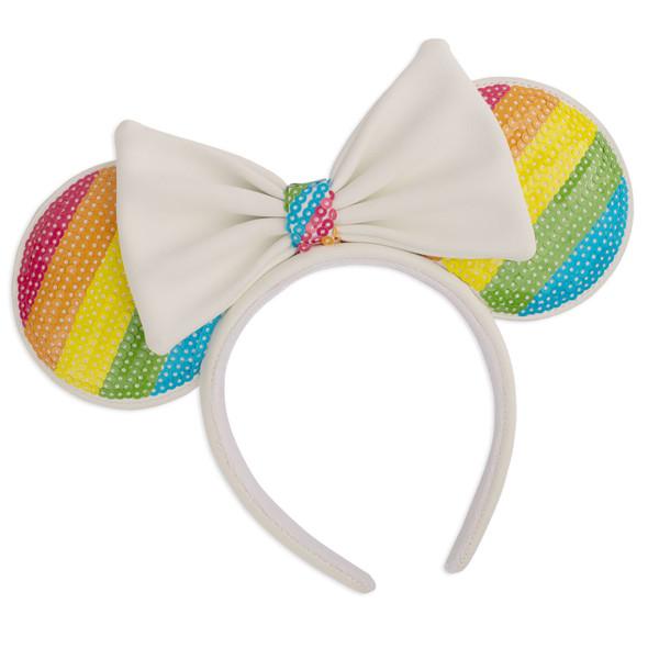 Loungefly Disney Sequin Rainbow Minnie Ears Headband