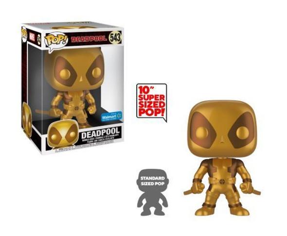 Pop! Marvel Deadpool 10 Inch Gold Walmart Exclusive