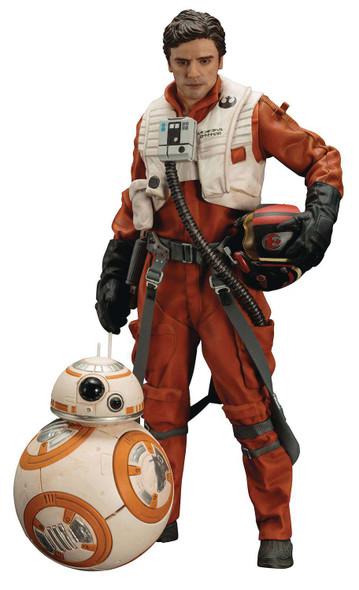 Kotobukiya Star Wars: The Force Awakens: Poe Dameron & BB-8 ArtFX+