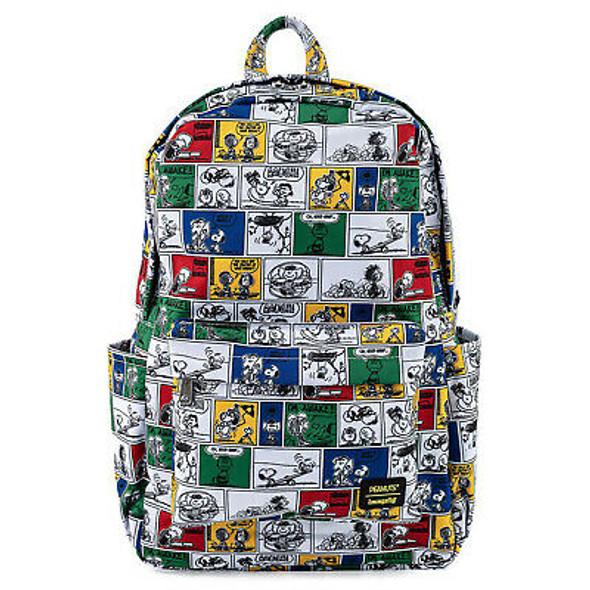 Loungefly Peanuts Comic Strip AOP Nylon Backpack