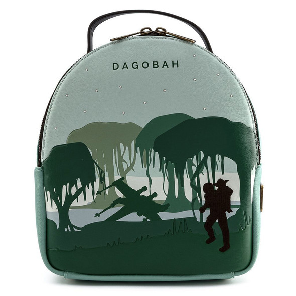 Loungefly Star Wars Dagobah Convertible Mini Backpack W/ Pouch