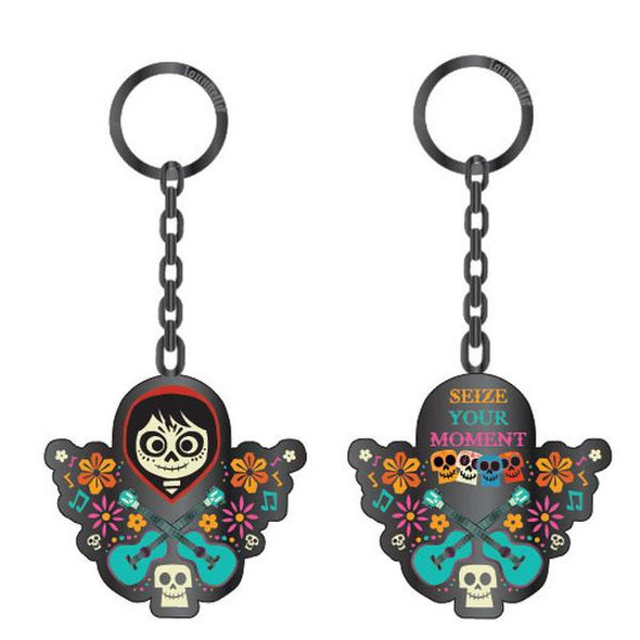 Loungefly Pixar Coco Seize Your Moment 2 Sided Enamel Keychain