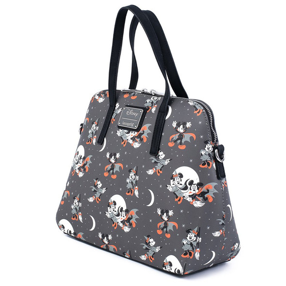 Loungefly Disney Mickey Minnie Halloween Vamp Witch Aop Crossbody Bag