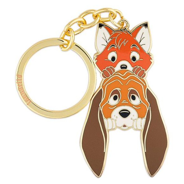 """Loungefly Disney Fox And The Hound Copper And Tood 2.5"""" Enamel Keychain"""