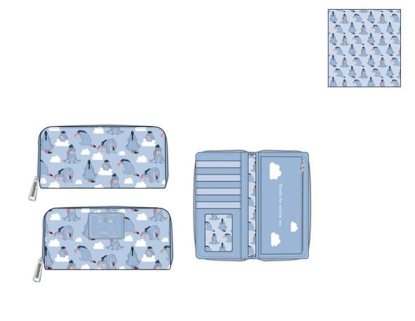 Loungefly Disney Eeyore AOP Zip Wallet
