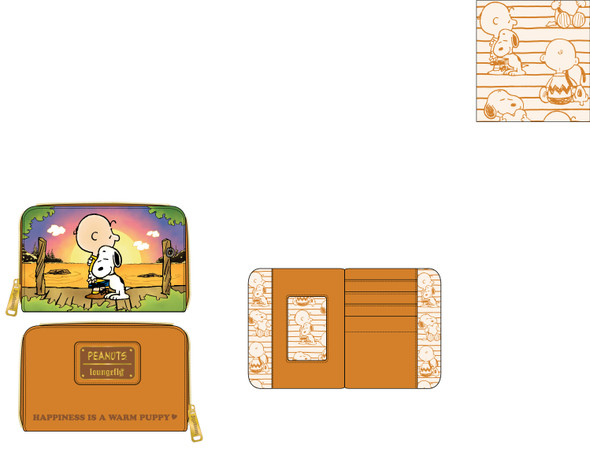 Loungefly Peanuts Charlie and Snoopy Sunset Zip