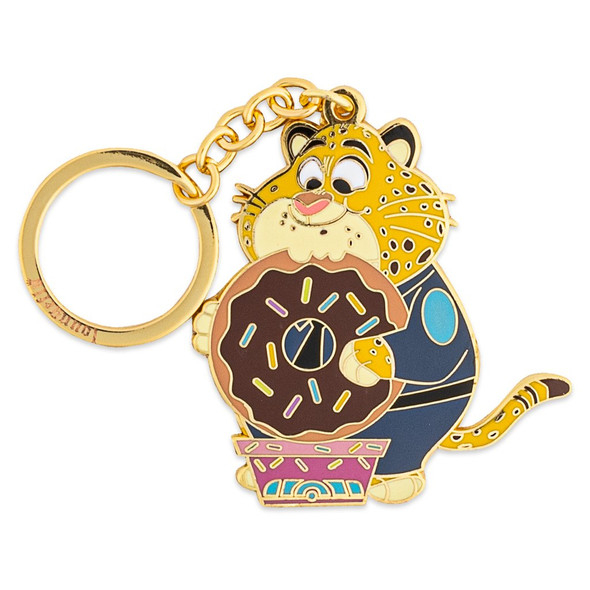 """Loungefly Disney Zootopia Officer Clawhauser 2.5"""" Enamel Keychain"""