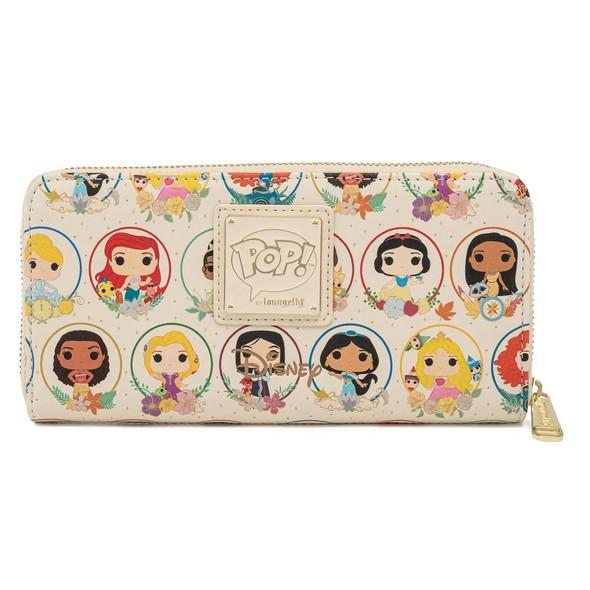 Pop By Loungefly Disney Princess Circles Zip Around Wallet