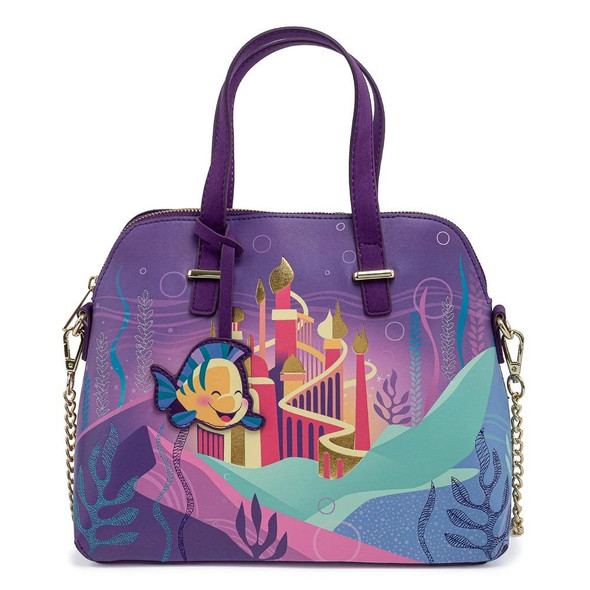 Loungefly Disney Ariel Castle Collection Crossbody Bag