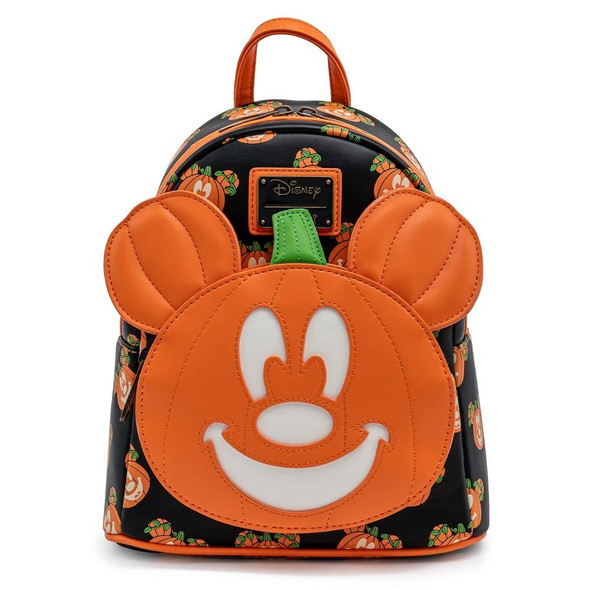 **MAY 2022 PREORDER** Loungefly Disney Mickey-O-Lantern Glow-in-the-Dark Mini