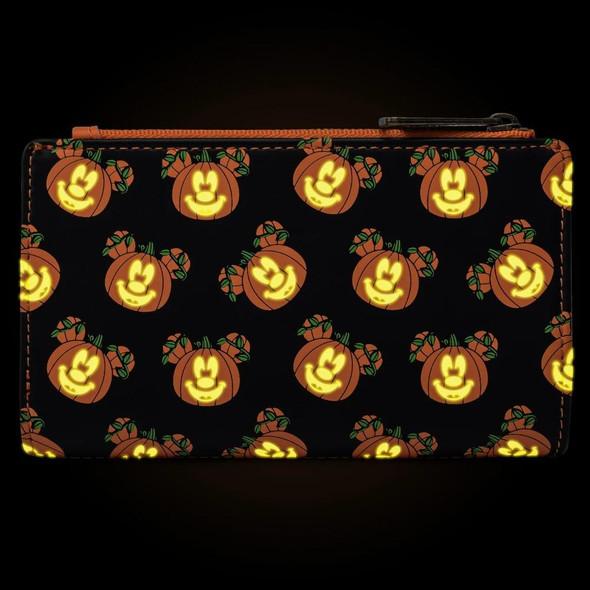 Loungefly Disney Mickey-O-Lantern Flap Wallet Glow-in-the-Dark
