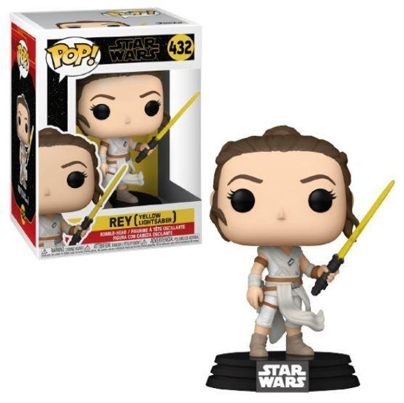 Pop! Star Wars: The Rise of Skywalker, Ep. 9 - Rey with Yellow Saber