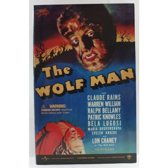 "12"" Sideshow Lon Chaney as Wolf Man Figure Wolfman 2001"