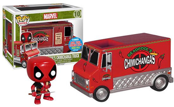 Pop Rides Deadpool Exclusive Red Chimichanga Food Truck NYCC 2015