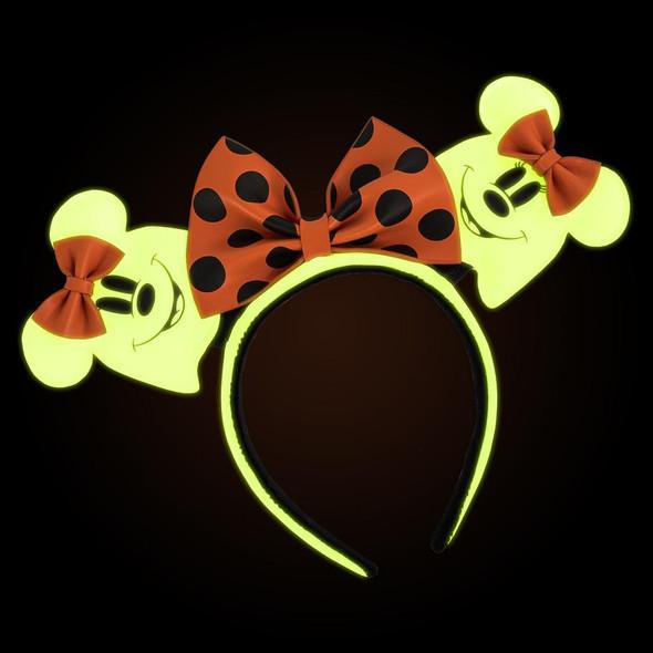 Loungefly Disney Ghost Minnie Glow In The Dark Cosplay Headband