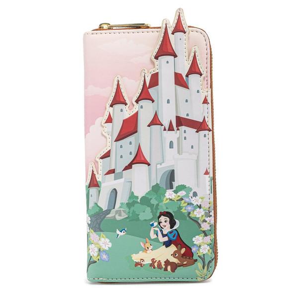 Loungefly Disney Snow White Castle Series Zip Around Wallet