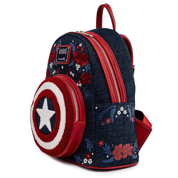 Loungefly Marvel Captain America Floral Sheild Mini