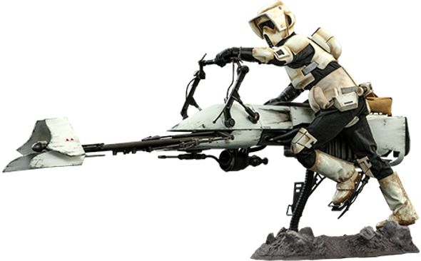 Hot Toys 1/6 Scale Star Wars - Scout Trooper and Speeder Bike