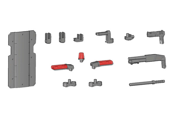 Kotobukiya Modeling Support Goods: Weapon Unit 41 Ballistic Shield Model Kit