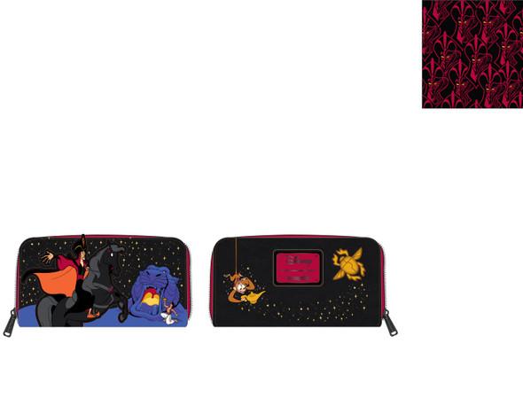Loungefly Disney Aladin Jafar Villains Scene Zip Around Wallet
